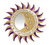 Gold & Purple Eclipse Mirror