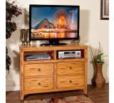 Rustic Oak Sedona Bedroom Media Chest