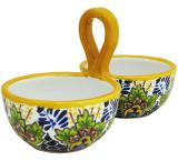 Double Talavera Dip Bowl