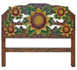 Sunflowers # 1 Carved Headboard
