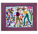Campesinos Luchadores Fino Quality Pillow Cover