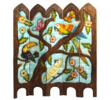 Tropical Birds / Macaws Two-Sided Room Divider