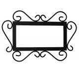 Wrought Iron House Number Frame
