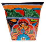 Square Talavera Planter