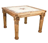 Frontera Dining Table w/ Inlaid Marble