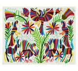 Bosque Escondido Rectangular Otomi Tapestry