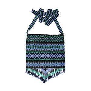 Beaded Purse:Purple, Green & Black