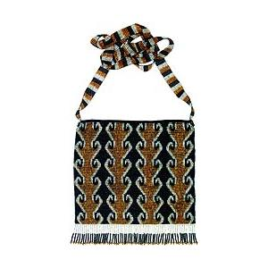 Beaded Purse: Gold, Black & Silver