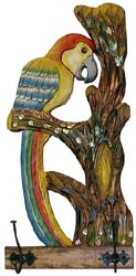 Macaw Coat Rack