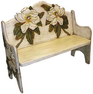Two Magnolias Bench