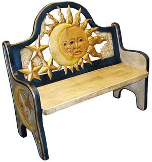 Blue Eclipse Bench