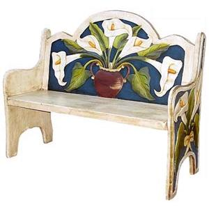 Blue Lily Bench