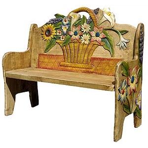 Flower Basket Bench
