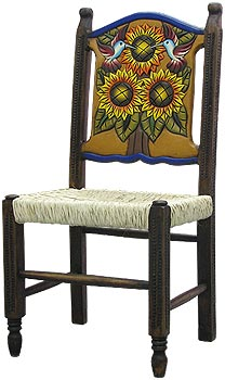 Large Woven Sunflower Chair