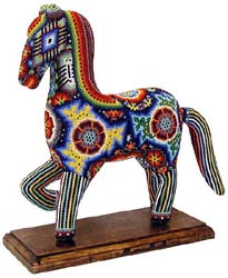 Huichol Horse on Stand