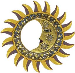Gold Eclipse Mirror