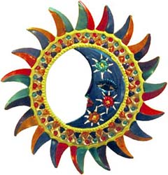 Multicolored Eclipse Mirror