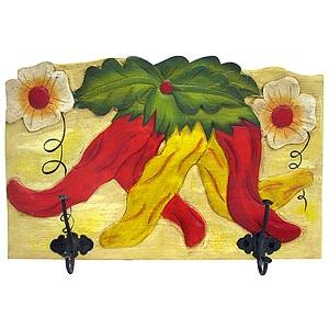 Chili Pepper Coat Rack