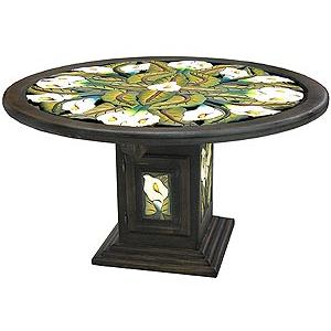 Large Round Calla Lily Dining Table