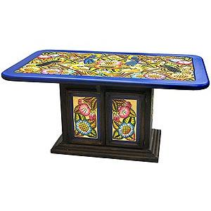 Rectangular Birds & Flowers Dining Table