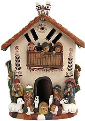 House with Nativity Scene