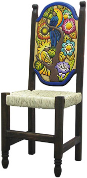Woven Birds & Flowers Chair