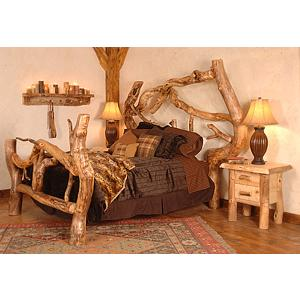 Aspen Log Collection Crazy Horse Free Form Bed Crb