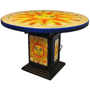 Round Sun Dining Table