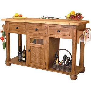 Rustic OakIsland Table
