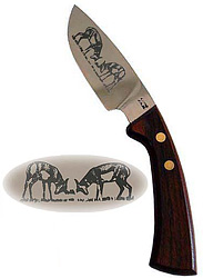 Curved Steak Knifew/Two Impalas Etching