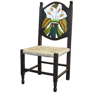 Lg. Woven Calla Lily Chair