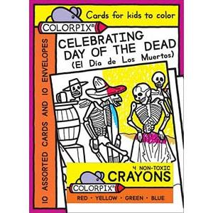 Day of the DeadColoring Cards & Crayons