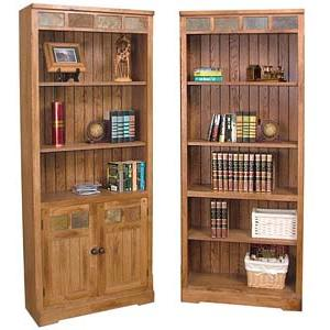 Rustic OakInlaid Bookcase