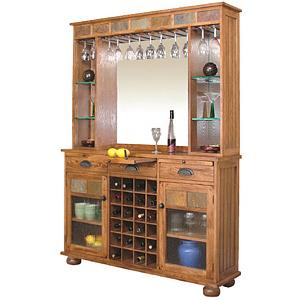Rustic OakServer & Back Bar