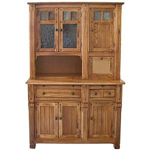 Rustic OakWide Hutch / Buffet
