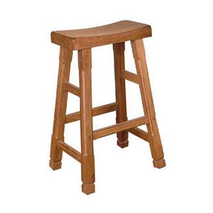 Rustic OakSaddle Seat Stool