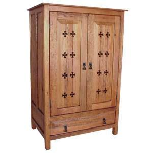 Country Armoire w/Crosses