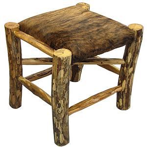 Rustic Log Foot Stool