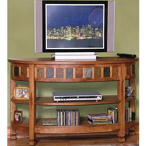 Rustic Oak48 Curved TV Console