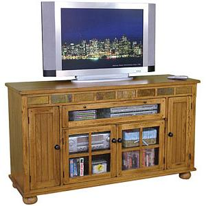 Rustic OakCounter Height TV Console