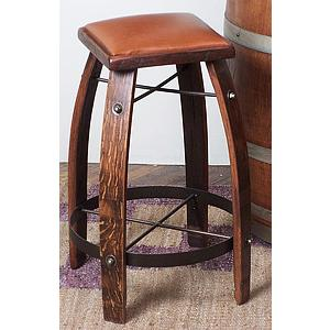 Tan Leather Stave Stool