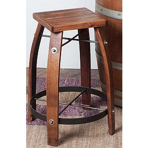 Stave Stool w/Wood Top