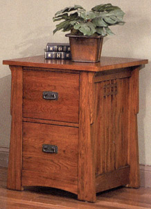 Mission OakTwo-Drawer File Cabinet