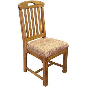 Rustic OakSlatback Chair w/Cushion