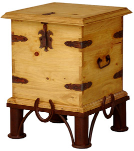 Horseshoe End Table Trunk