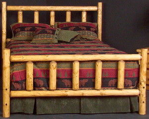 Alpine Log Headboard