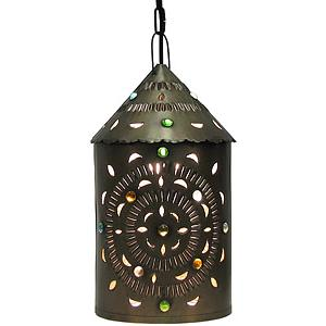 Merida Lantern w/Marbles:Oxidized Finish
