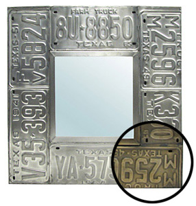 Square License Plate Mirror