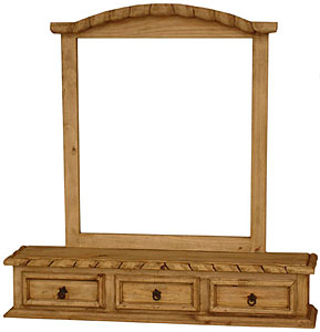 Rope Edge Jewelry Boxw/Mirror Frame