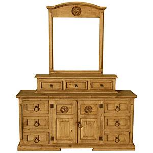 Mansion Star Dresserw/Jewelry Box Mirror Frame